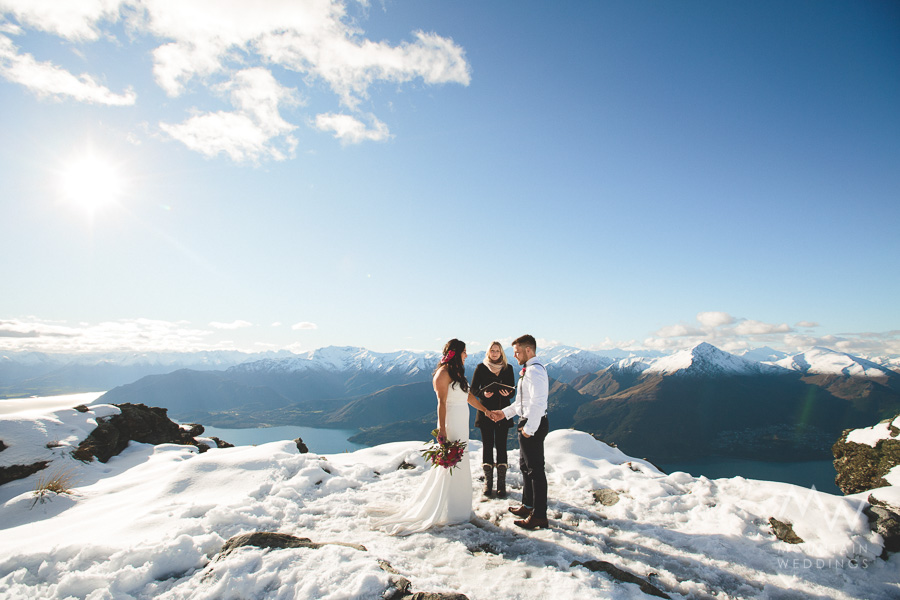 The Ledge Snow Wedding