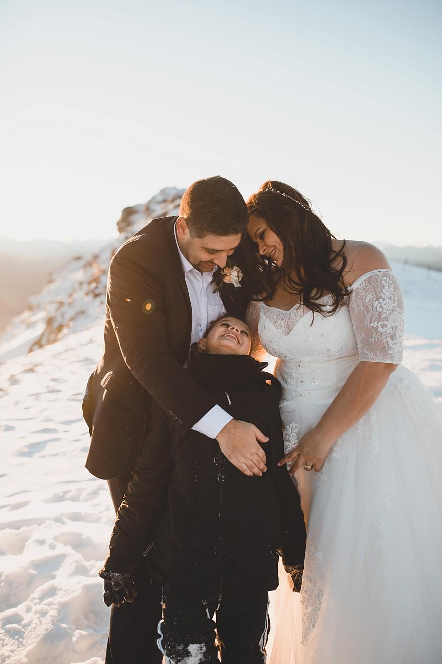 Queenstown Winter Heli Wedding