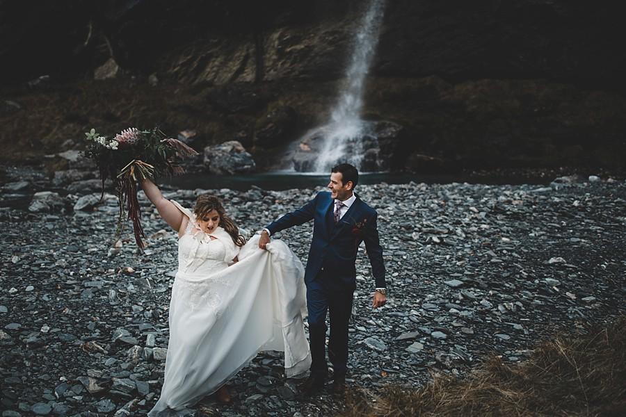 Earnslaw Burn Queenstown Heli Wedding
