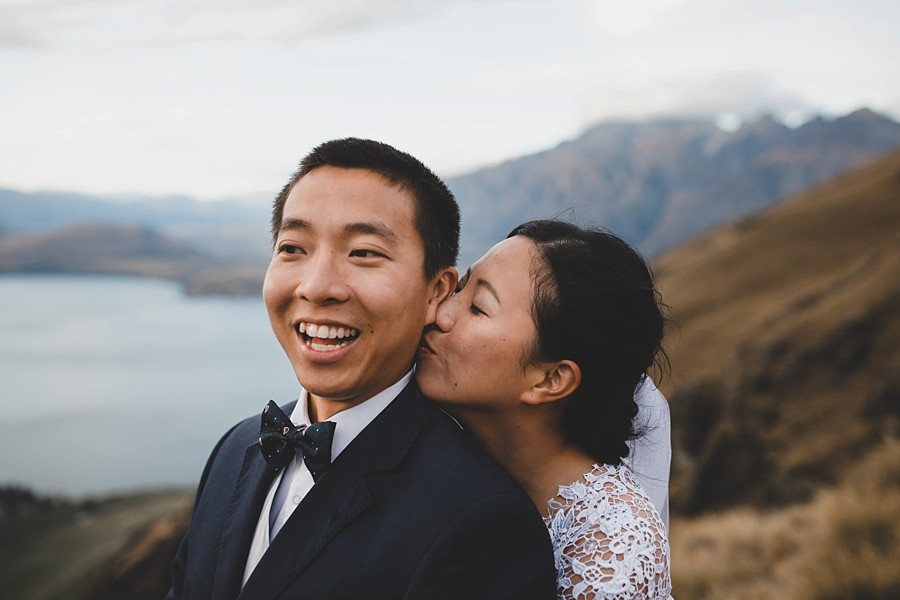 Queenstown Autumn Heli Wedding