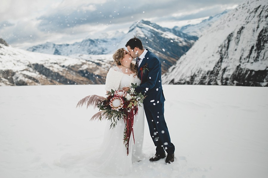 Earnslaw Burn Queenstown Heli Wedding
