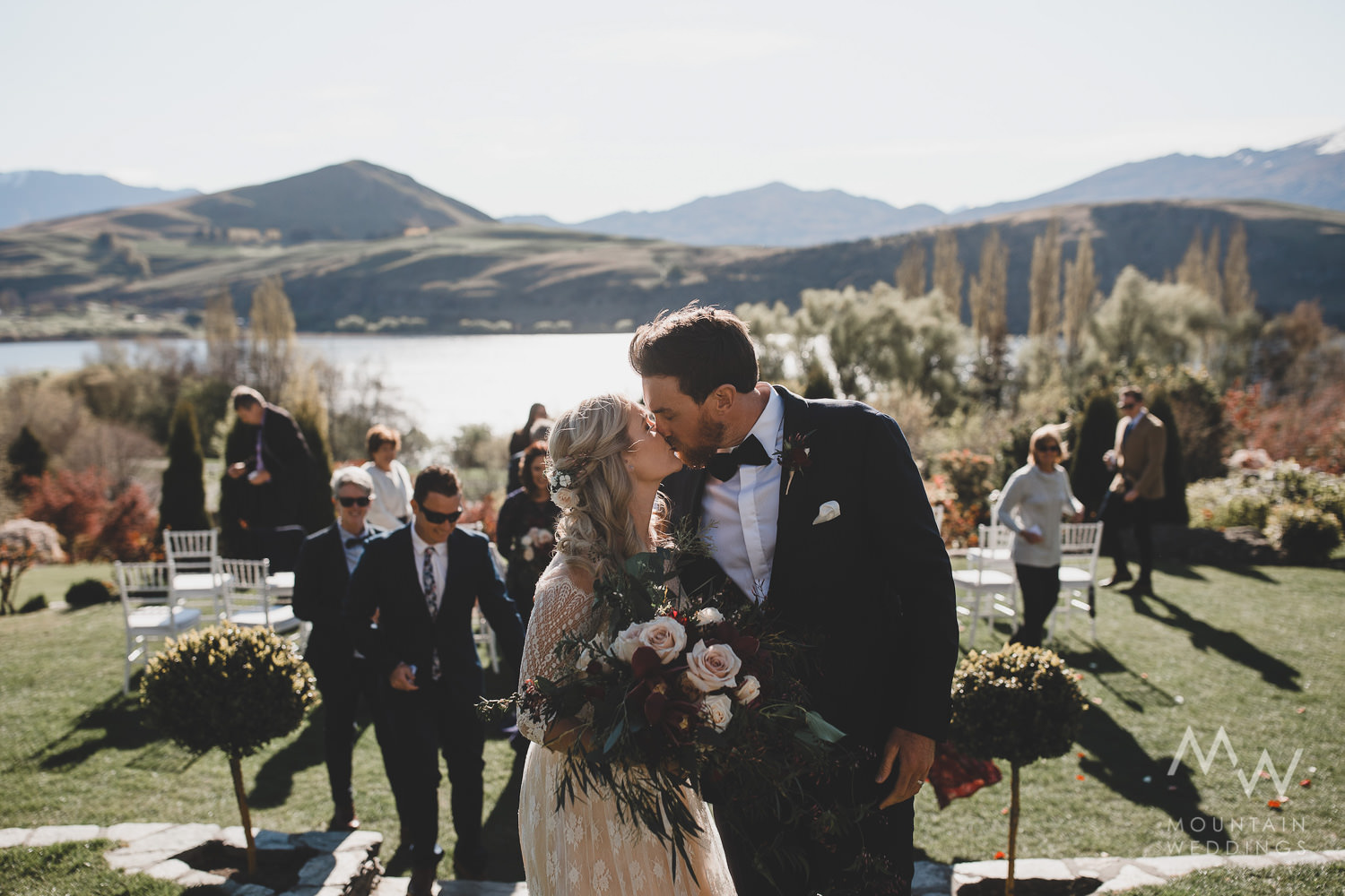 Intimate Garden Wedding Queenstown