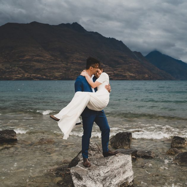Intimate Lakeside Wedding Queenstown