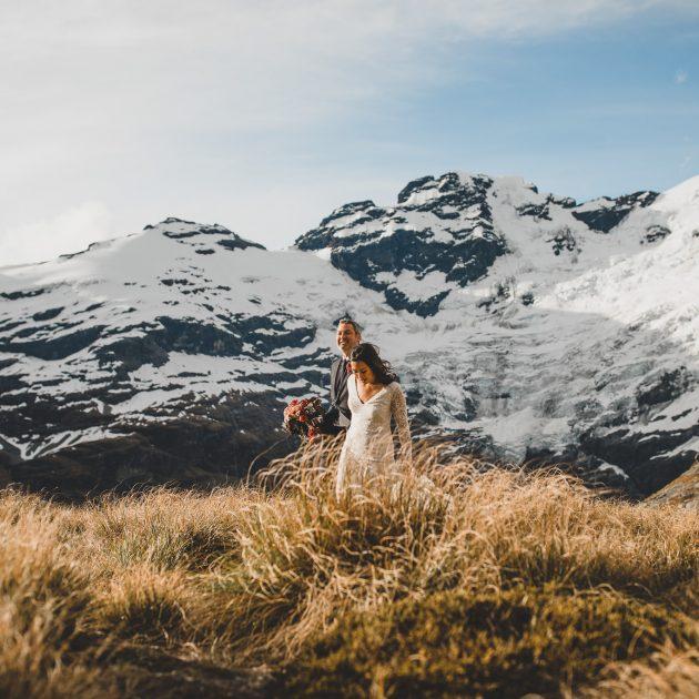 New Zealand Earnslaw Ridge Elopement