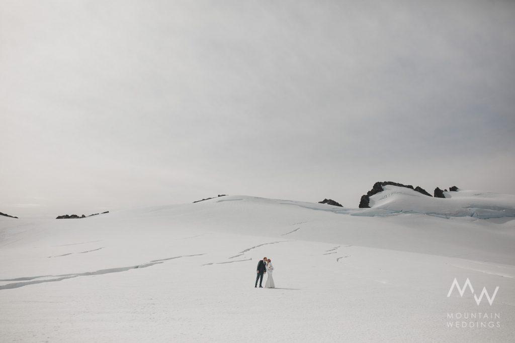 Snow Elopement Tutoko Glacier