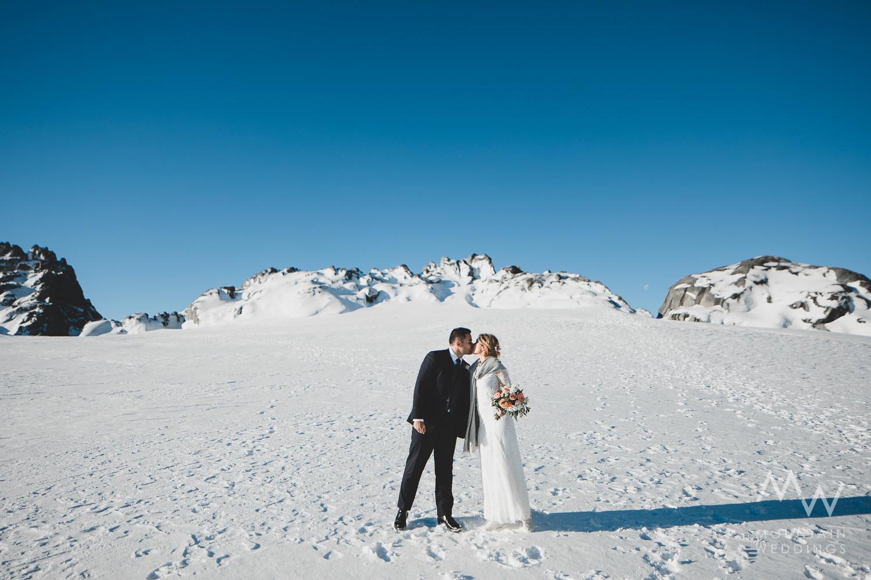 Tutoko Glacier Snow Elopement